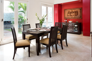The Richmond Collection is suitable for those who prefers a bit of curve in their design. This collection can break off the bulk of the other designs paired to it thanks to its curves. <br> <br> Items: <br> 6-seater Dining Table (180W x 100D x 76H cm) <br> Chairs <br> Sideboard/Crockery Cabinet (150W x 45D x 90H cm)