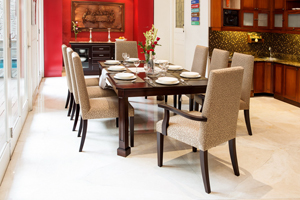The Urban Collection fuses urban contemporary design with a bit of an Asian flare. Clean lines meet simple angular ones to create a modern yet tasteful ambiance.  <br> <br>Items: <br>  Dining Table available in a 6 seater (180Wx110Dx76H cm) and 8 seater (210Wx120Dx76H cm) <br>  Fully Upholstered Chairs & Armchairs <br>  Sideboard/Crockery Cabinet (160Wx53Dx90H cm)